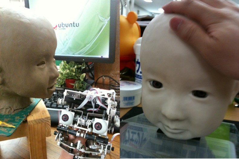 アンドロイド型の顔の表現力を高める